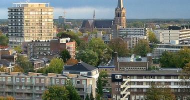 Foto van Eindhoven van boven