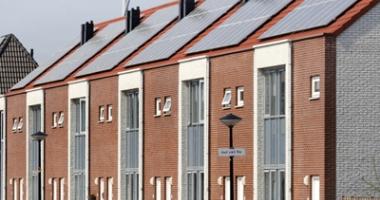 Foto van woning met zonnepanelen in Heerhugowaard