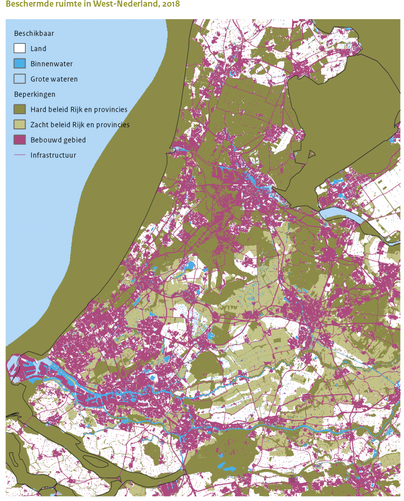 Beschermde ruimte in West-Nederland. 2018