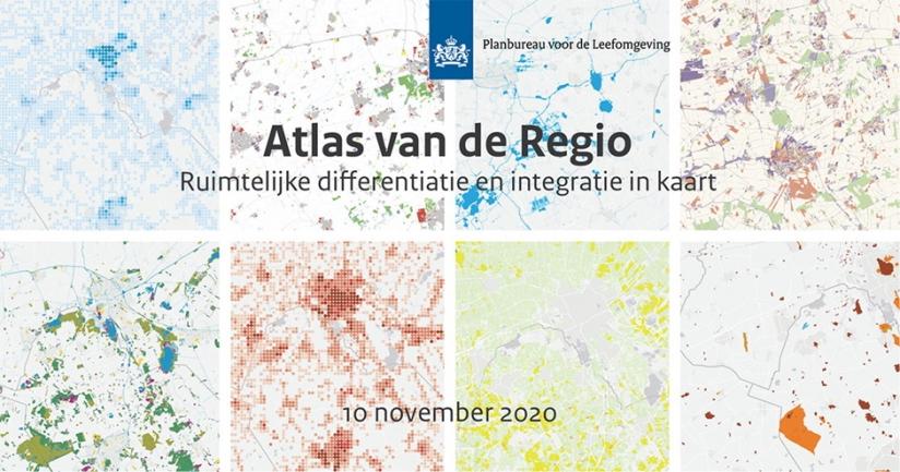 Afbeelding van de website Atlas van de Regio met meerdere kaartbeelden
