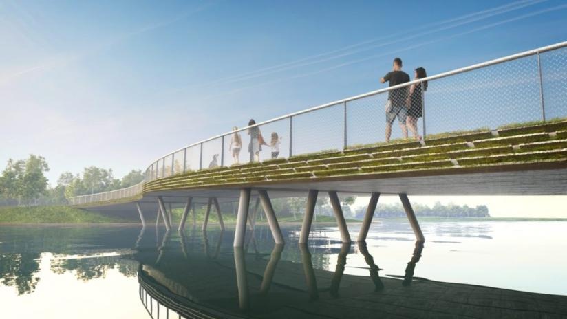 Circulaire bruggen. Een activiteit die is geïnitieerd door de gemeente Almere en provincie Flevoland