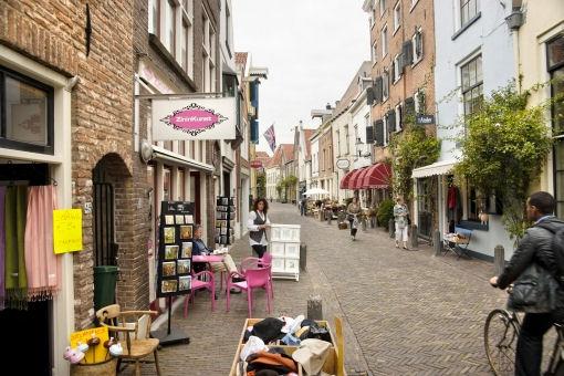 Foto van straat in Deventer