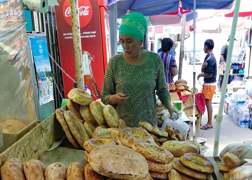 A food market in Kyrgyzstan