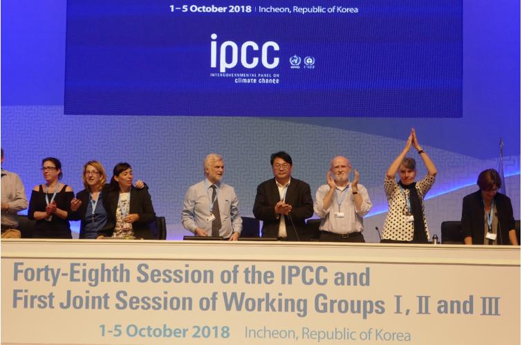 Panel bij IPCC meeting