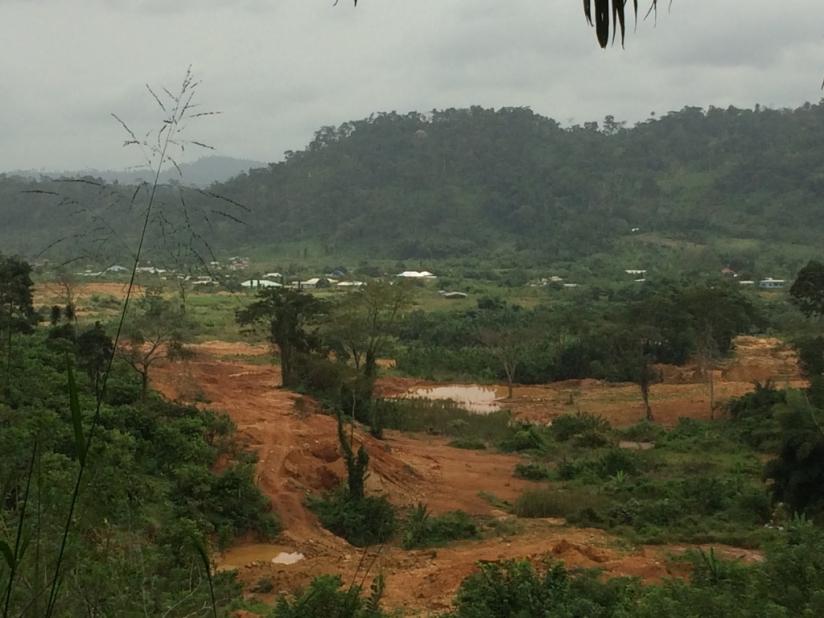 Photo View on Atewa Range, Ghana